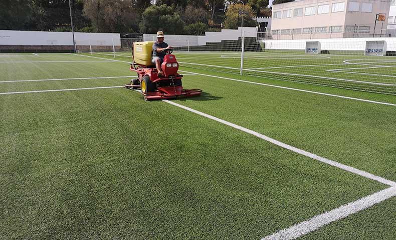 proyecto campo de futbol cesped artificial