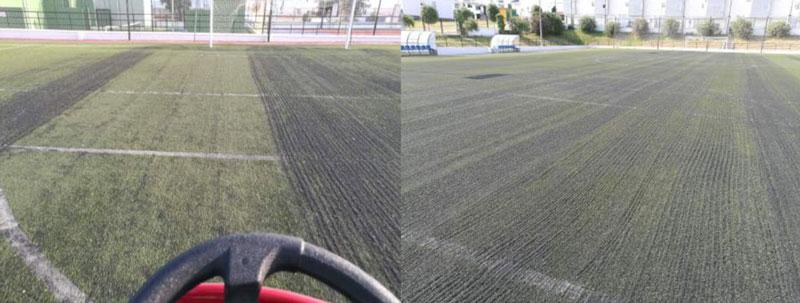 empresa para descompactar cesped artificial para campos de futbol